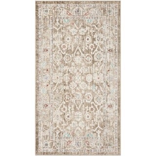 Safavieh Windsor Ryszarda Shabby Chic Oriental Polyester Rug (5 x 7 - Brown/Ivory)