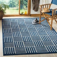 Safavieh Cottage Blue/ Grey Rug - 5'3 x 7'7