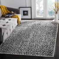 Safavieh Hand-Woven Marbella Dark Grey/ Ivory Polyester Rug - 5' x 8'