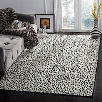 Safavieh Hand-Woven Marbella Ivory/ Black Polyester Rug - 5' x 8'