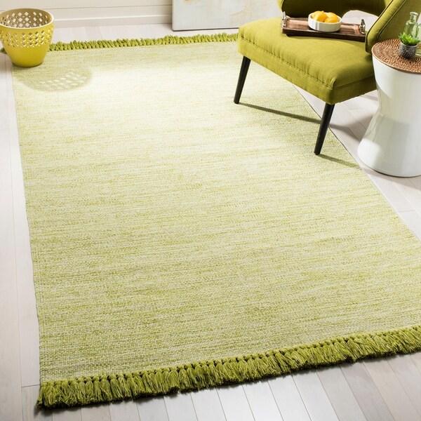 Shop Safavieh Hand-Woven Montauk Olive/ Green Cotton Rug