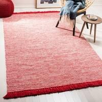 Safavieh Hand-Woven Montauk Red Cotton Rug - 5' x 8'