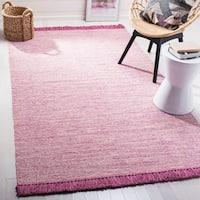 Safavieh Hand-Woven Montauk Pink Cotton Rug - 5' x 8'