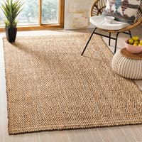 Safavieh Hand-Woven Natural Fiber Natural/ Brown Jute Rug - 5' x 8'