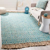 Safavieh Hand-Woven Natural Fiber Turquoise/ Natural Jute Rug - 6' x 9'