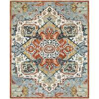 Safavieh Handmade Aspen Blue/ Rust Wool Rug - 8' x 10'