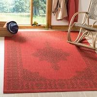Safavieh Courtyard Red/ Chocolate Rug - 8' X 11'