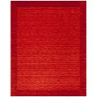 Safavieh Hand-Woven Himalaya Red Wool Rug (8' x 10')