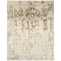Safavieh Hand-Woven Mirage Ivory/ Grey Wool Rug - 8' x 10'