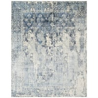 Safavieh Hand-Woven Mirage Ivory/ Blue Wool Rug - 8' x 10'