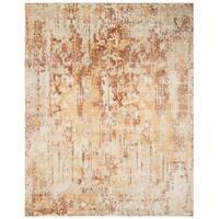 Safavieh Hand-Woven Mirage Ivory/ Rust Wool Rug - 9' x 12'