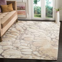 Safavieh Hand-Woven Mirage Grey/ Ivory Viscose Rug (9' x 12')