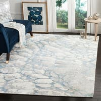 Safavieh Hand-Woven Mirage Turquoise/ Ivory Viscose Rug - 9' x 12'