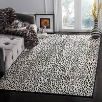 Safavieh Hand-Woven Marbella Ivory/ Black Polyester Rug - 8' x 10'