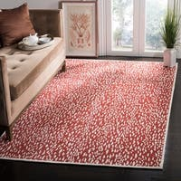 Safavieh Hand-Woven Marbella Red/ Ivory Polyester Rug - 8' x 10'