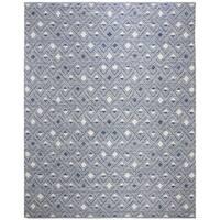 Safavieh Hand-Woven Montauk Navy/ Ivory Cotton Rug (8' x 10')