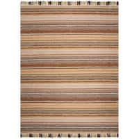 Safavieh Hand-Woven Montauk Brown/ Multi Cotton Rug - 8' x 10'