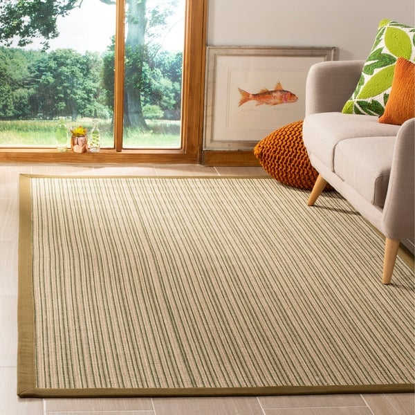 Shop Safavieh Natural Fiber Multi/ Green Sisal Rug