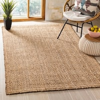 Safavieh Hand-Woven Natural Fiber Natural/ Brown Jute Rug (9' x 12')