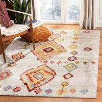 Safavieh Sagamore Bohemian Light Grey/ Terracotta Rug (8' x 10')