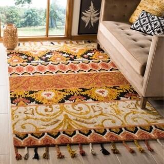 Safavieh Hand-Hooked Suzani Rust/ Gold Wool Rug (8' x 10')
