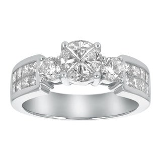 14K White Gold 1.68ct TDW Diamond Wedding Ring