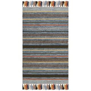 Safavieh Hand-Woven Montauk Blue/ Multi Cotton Rug - 2'6 x 4'