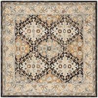 Safavieh Handmade Aspen Beige/ Brown Wool Rug - 7' x 7' Square
