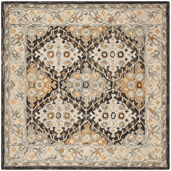Safavieh Handmade Aspen Beige/ Brown Wool Rug - 7' Square