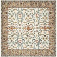 Safavieh Handmade Aspen Ivory/ Blue Wool Rug - 7' Square