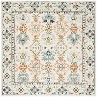 Safavieh Handmade Aspen Ivory/ Blue Wool Rug (7' Square)