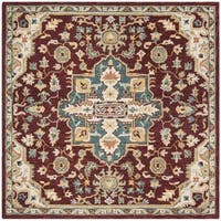 Safavieh Handmade Aspen Red/ Blue Wool Rug - 7' Square