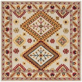 Safavieh Handmade Aspen Bohemian Ivory/ Multi Wool Rug (7' Square)