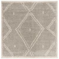 Safavieh Arizona Shag Grey/ Ivory Rug - 6'7 Square