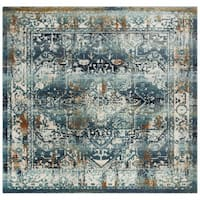 Safavieh Baldwin Vintage Teal/ Ivory Rug (6'7 Square)