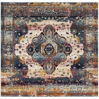 Safavieh Baldwin Vintage Slate Blue/ Rust Rug - 6'7 Square