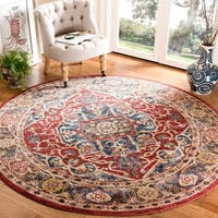 Safavieh Bijar Red/ Royal Rug - 6'7 Round