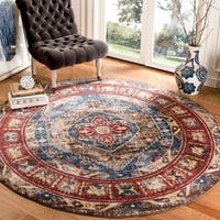 Safavieh Bijar Brown/ Royal Rug - 6'7 Round