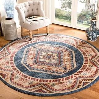 Safavieh Bijar Royal/ Rust Rug (6'7 Round)
