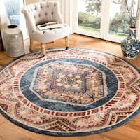 Safavieh Bijar Royal/ Rust Rug - 6'7 Round