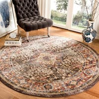 "Safavieh Bijar Brown/ Rust Rug - 6'7"" x 6'7"" round"