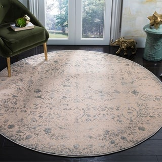 Safavieh Brilliance Vintage Cream/ Light Blue Rug (6'7 Round)