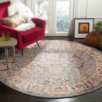 Safavieh Bristol Vintage Grey/ Light Grey Polyester Rug - 7' x 7' Round