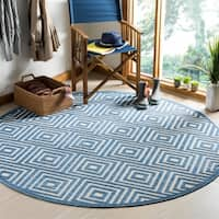 Safavieh Cottage Cream/ Light Blue Rug - 6'7 Round