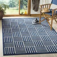 "Safavieh Cottage Blue/ Grey Rug - 6'7"" x 6'7"" Square"