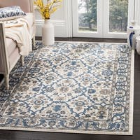 Safavieh Carolina Cream/ Dark Blue Rug - 5'1 round