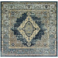 Safavieh Crystal Vintage Bohemian Blue/ Yellow Rug - 7' Square