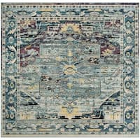 Safavieh Crystal Vintage Bohemian Teal/ Purple Rug - 7' Square