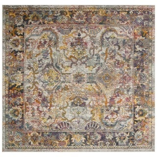 Safavieh Crystal Vintage Bohemian Light Blue/ Orange Rug (7' Square)