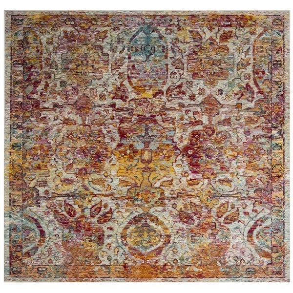 Safavieh Crystal Vintage Bohemian Light Blue/ Orange Rug - 7' Square